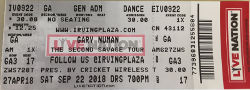 New York Irving Plaza Ticket 2018